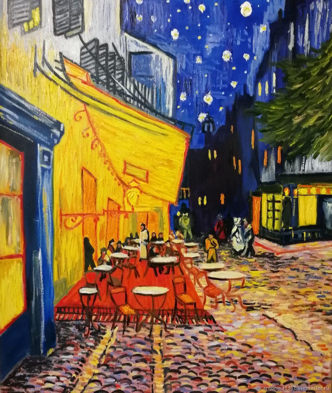 Копия Ван Гог Ночная терраса кафе в Арле, Картины, Темрюк,  Фото №1