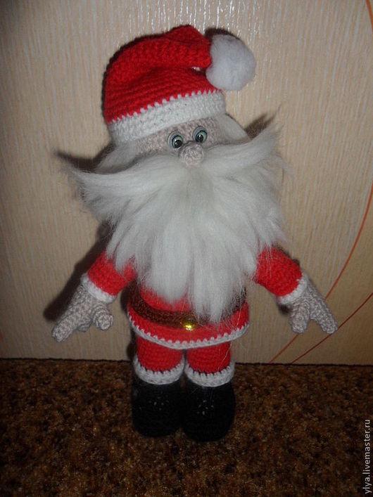 Человечки ручной работы. Ярмарка Мастеров - ручная работа. Купить Дед Мороз. Handmade. Ярко-красный, подарок на новый год