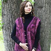 Одежда handmade. Livemaster - original item Knit-felted vest