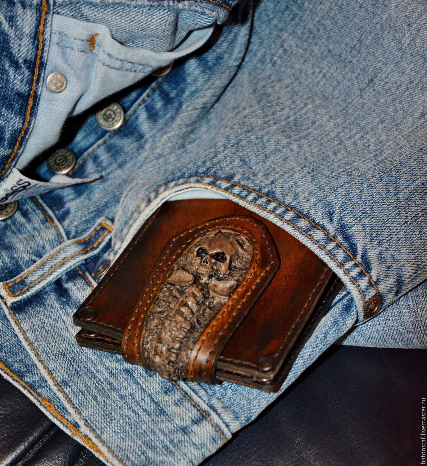 Gift to man . Wallet leather . Purse men's, Classic Bag, Moscow,  Фото №1