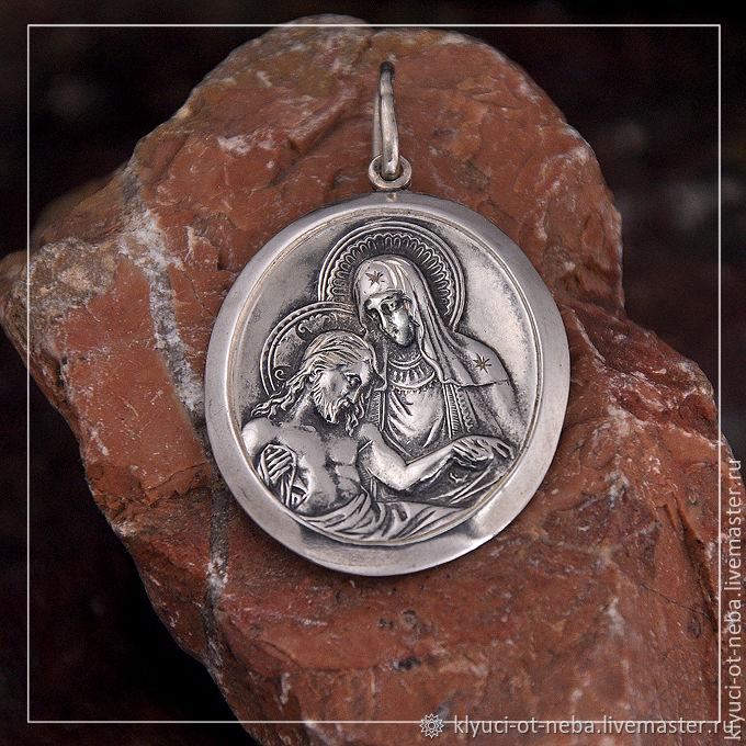 """Икона """"Оплакивание Христа""""(серебро), Нательная иконка, Севастополь,  Фото №1"""
