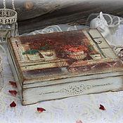 """Для дома и интерьера ручной работы. Ярмарка Мастеров - ручная работа Шкатулка """"Французские розы"""". Handmade."""