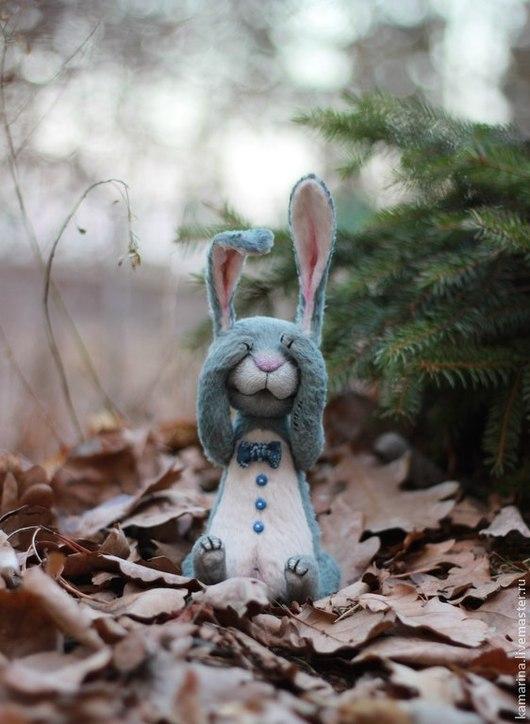 Мишки Тедди ручной работы. Ярмарка Мастеров - ручная работа. Купить Mr. Bunny. Handmade. Серый, зайка тедди