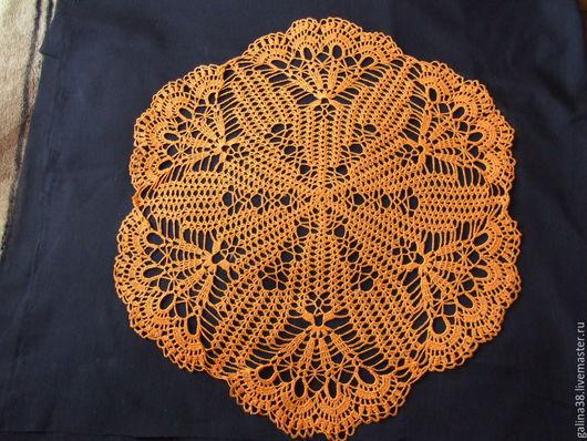 Текстиль, ковры ручной работы. Ярмарка Мастеров - ручная работа. Купить Салфетка кружевная оранжевая. Handmade. Оранжевый, украшение дома