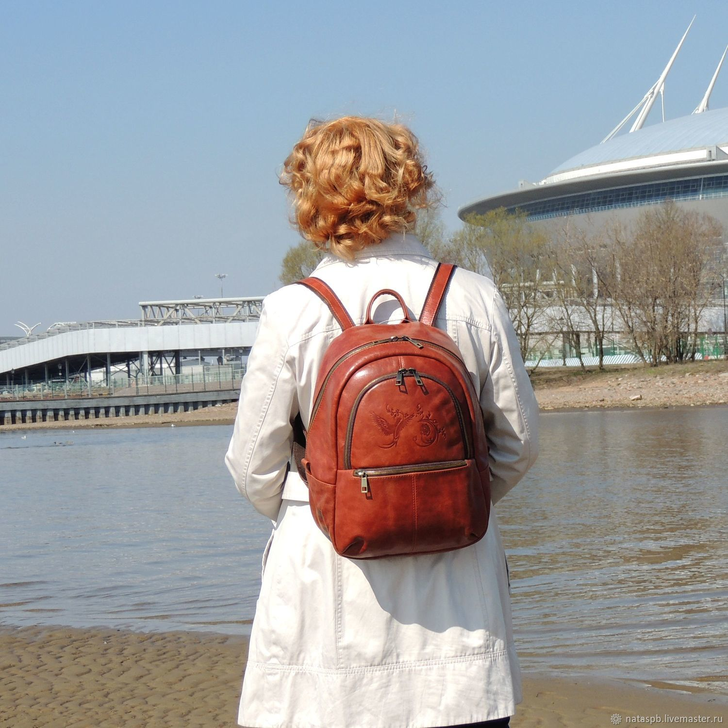 Backpack leather female brown Kato Mod. R. 43-602, Backpacks, St. Petersburg,  Фото №1