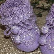 Работы для детей, handmade. Livemaster - original item Felted hat and booties-boots