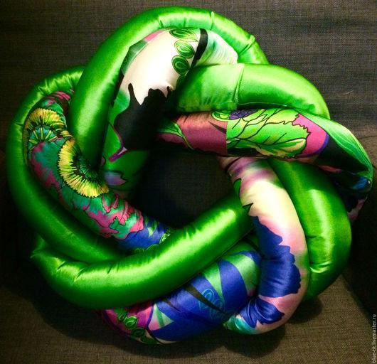 Текстиль, ковры ручной работы. Ярмарка Мастеров - ручная работа. Купить Декоративная подушка Blue Tit. Handmade. Аксессуары из шелка