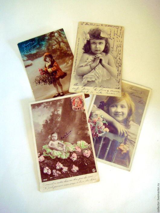 """Винтажные сувениры. Ярмарка Мастеров - ручная работа. Купить Старые антикварные открытки """"Дети"""". Handmade. Комбинированный, винтажные открытки"""