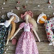 Куклы и игрушки ручной работы. Ярмарка Мастеров - ручная работа Кукла Тильда дама в шляпке. Handmade.