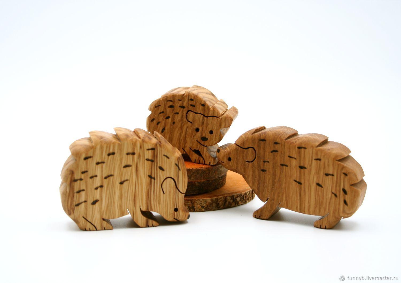 Ежики Вальдорфская деревянная игрушка Деревянные развивающие игрушки, Вальдорфские куклы и звери, Москва,  Фото №1