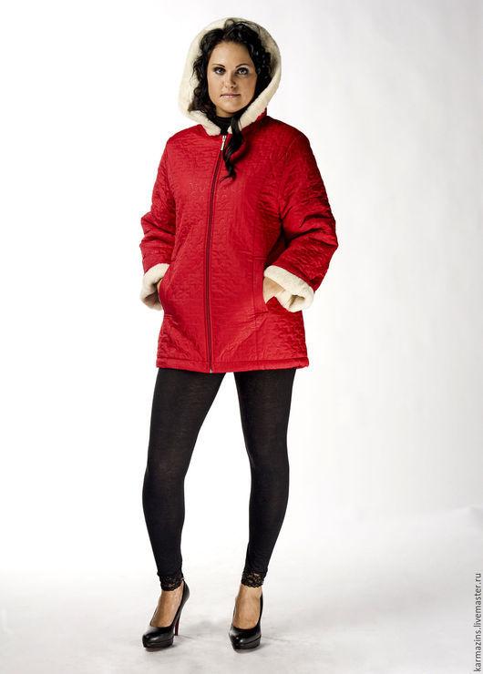 Верхняя одежда ручной работы. Ярмарка Мастеров - ручная работа. Купить РЕД Женская куртка на шерсти Мериноса. Handmade.