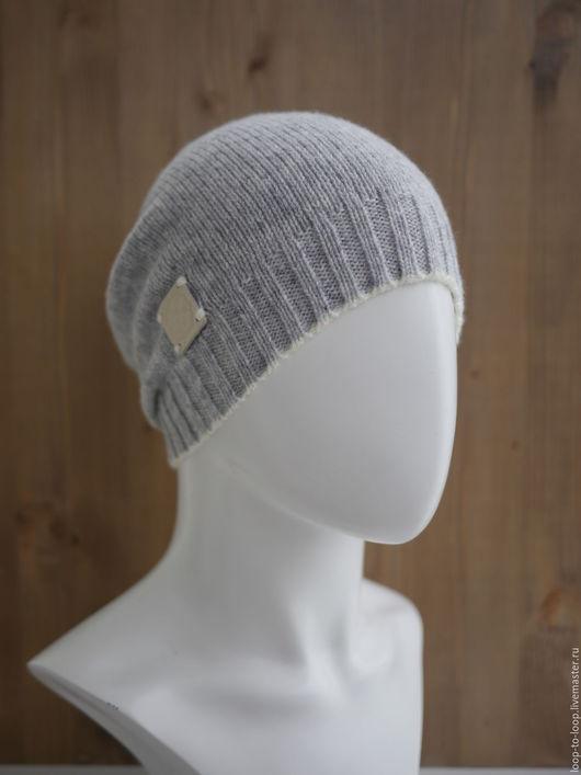 Шапки ручной работы. Ярмарка Мастеров - ручная работа. Купить Вязаная шапка. Handmade. Серый, вязаная шапка, шапка-бини