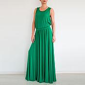 Одежда ручной работы. Ярмарка Мастеров - ручная работа Зеленое платье Платье в пол Модное платье Длинное платье Макси платье. Handmade.