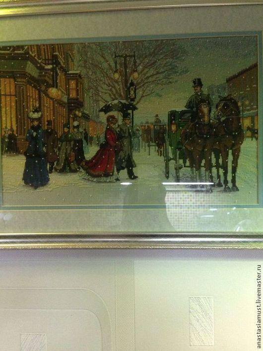 """Люди, ручной работы. Ярмарка Мастеров - ручная работа. Купить Картина вышитая """"Изящный век"""". Handmade. Вышитая картина крестиком"""