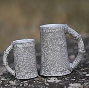 """Посуда ручной работы. Ярмарка Мастеров - ручная работа Раку кружка """"бамбук"""". Раку керамика.. Handmade."""
