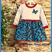 Работы для детей, ручной работы. Ярмарка Мастеров - ручная работа Детское платье Blue Butterfly. Handmade.