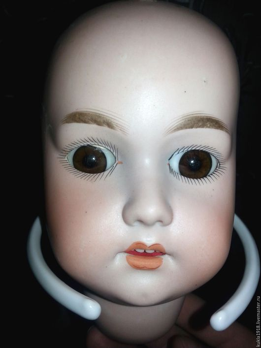 Коллекционные куклы ручной работы. Ярмарка Мастеров - ручная работа. Купить Антикварная фарфоровая кукольная головка ПРОДАНА!. Handmade. Белый