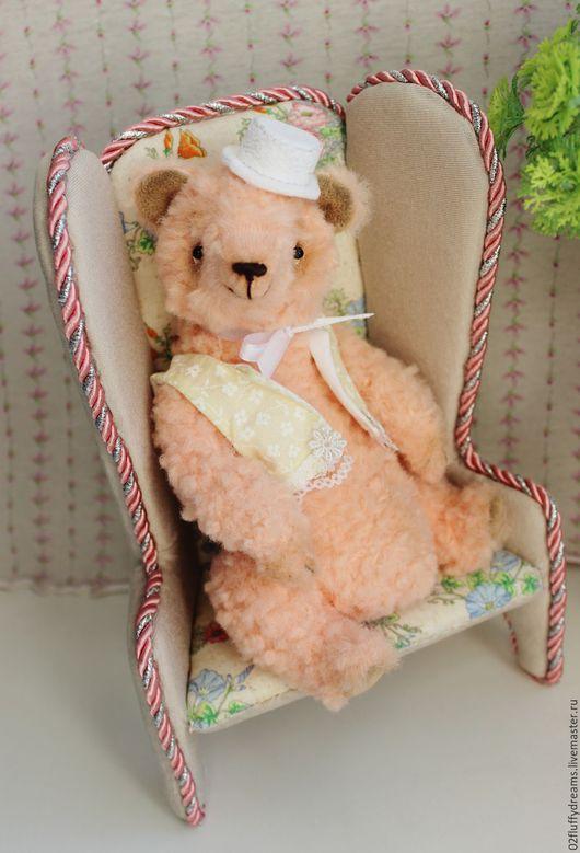 Мишки Тедди ручной работы. Ярмарка Мастеров - ручная работа. Купить Персиваль (Персик). Handmade. Мишка, комбинированный, стеклянный гранулят
