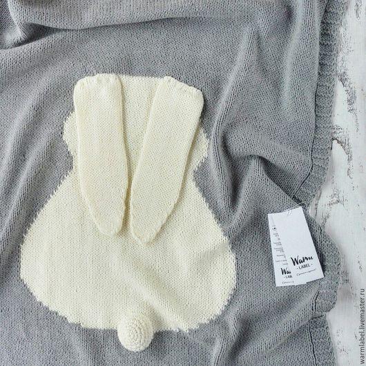 Пледы и одеяла ручной работы. Ярмарка Мастеров - ручная работа. Купить Плед детский. Handmade. Серый, плед для новорожденного
