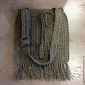 Сумки и аксессуары handmade. Livemaster - original item Bag Torba with tassels,jute. Handmade.