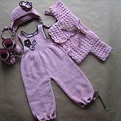 Работы для детей, ручной работы. Ярмарка Мастеров - ручная работа Розовый комплект для девочки.. Handmade.