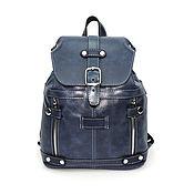 Сумки и аксессуары handmade. Livemaster - original item Small women`s leather backpack blue Monique Mod R13m-661. Handmade.