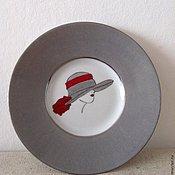 """Посуда ручной работы. Ярмарка Мастеров - ручная работа Тарелка """"Серая шляпка"""". Handmade."""