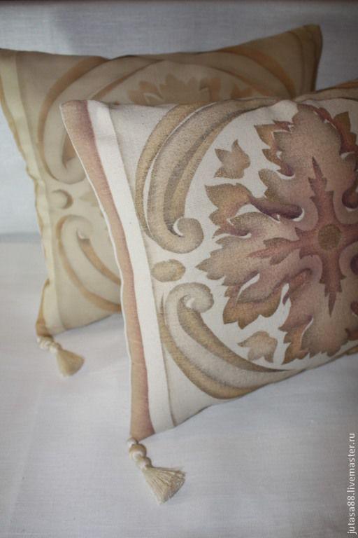 Текстиль, ковры ручной работы. Ярмарка Мастеров - ручная работа. Купить Наволочки для интерьера. Handmade. Бежевый, интерьер