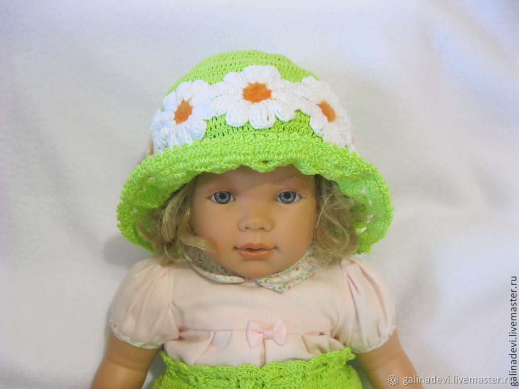 BRETON HAT for girls summer knit, Hats1, Moscow,  Фото №1