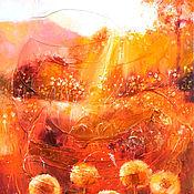 Картины и панно handmade. Livemaster - original item Honey autumn - oil painting. Handmade.