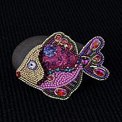 Украшения handmade. Livemaster - original item Fish brooch Fulfillment of desires. Handmade.