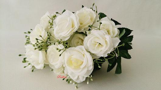 Материалы для флористики ручной работы. Ярмарка Мастеров - ручная работа. Купить Букет роз Б67, 8 оттенков. Handmade. Цветы