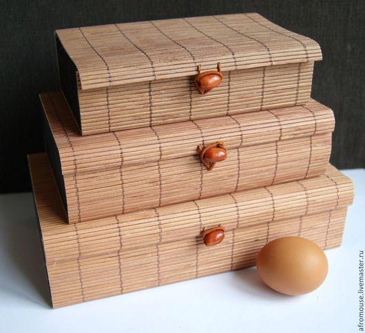 коробки `Бамбук 26` коричневые, прямоугольные