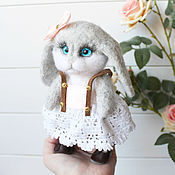 Куклы и игрушки handmade. Livemaster - original item Bunny with movable legs, large. Handmade.