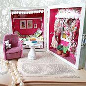Кукольные домики ручной работы. Ярмарка Мастеров - ручная работа Кукольный домик в шкатулке. Handmade.