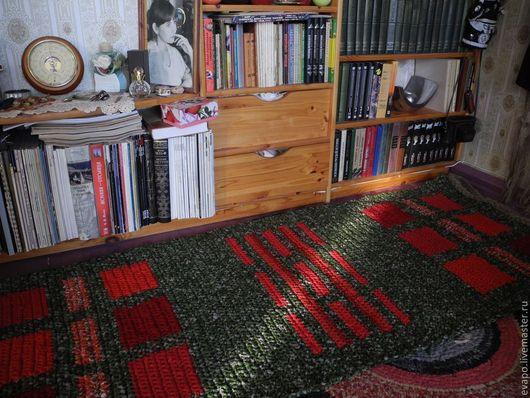 """Текстиль, ковры ручной работы. Ярмарка Мастеров - ручная работа. Купить Коврик """"Скатертью дорожка"""". Handmade. Зеленый, дорожка"""
