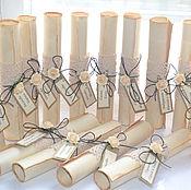 Свадебный салон ручной работы. Ярмарка Мастеров - ручная работа Винтажное свадебное приглашение. Handmade.