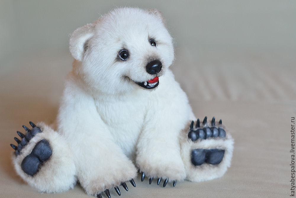 Мишки Тедди ручной работы. Ярмарка Мастеров - ручная работа. Купить Элвуд Полярный медвежонок. Handmade. Тедди, авторская игрушка