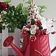"""Персональные подарки ручной работы. Ярмарка Мастеров - ручная работа. Купить Птички """"Вишнёвый сад"""". Handmade. Ярко-красный, весна"""