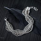 Браслет-цепочка ручной работы. Ярмарка Мастеров - ручная работа Стальной браслет Perpetual motion в технике кольчужного плетения. Handmade.