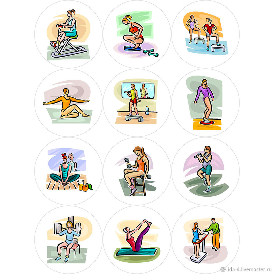 'Fitness ' Icons for instagram, Illustrations drawings, Permian,  Фото №1