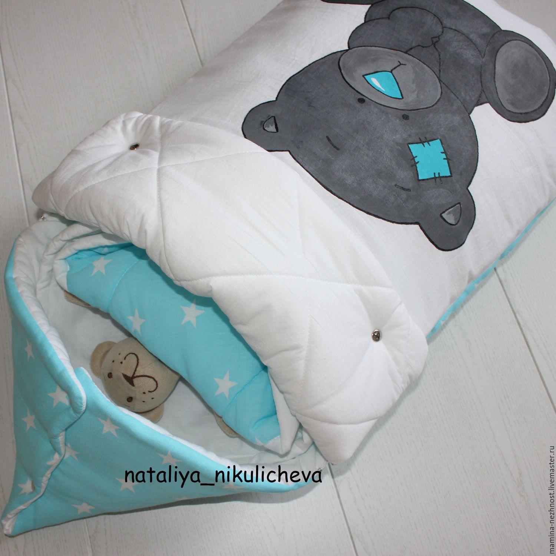 Конверт для новорожденного из одеяла своими руками фото