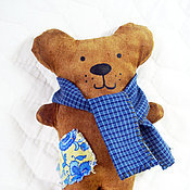 Куклы и игрушки ручной работы. Ярмарка Мастеров - ручная работа Кофейный мишка (чердачная игрушка). Handmade.