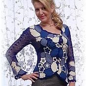 """Одежда ручной работы. Ярмарка Мастеров - ручная работа Жакет вязаный """"Цветная полянка"""". Handmade."""