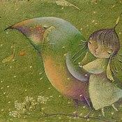 Картины и панно ручной работы. Ярмарка Мастеров - ручная работа Весняночки. Авторский принт на холсте. Весна, девочка, птичка. Handmade.