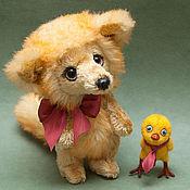Куклы и игрушки ручной работы. Ярмарка Мастеров - ручная работа Лисенок Вук и цыпленок Пип. Handmade.