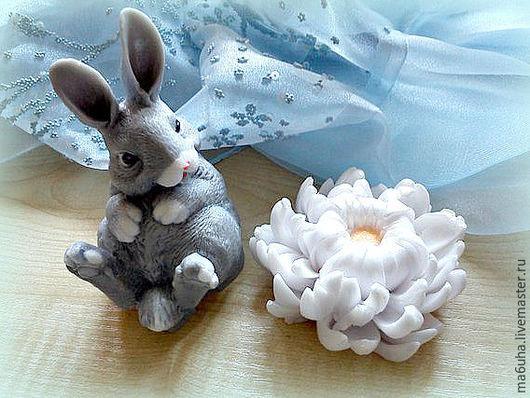 Мыло ручной работы. Ярмарка Мастеров - ручная работа. Купить Мыло Набор Заяц с цветком. Handmade. Разноцветный