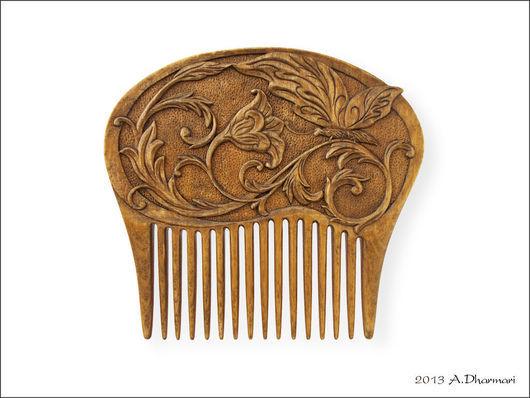 Гребни, расчески ручной работы. Ярмарка Мастеров - ручная работа. Купить Гребень для волос деревянный. Handmade. Коричневый, гребень