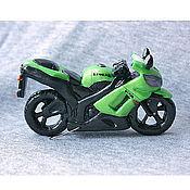 Сувениры и подарки ручной работы. Ярмарка Мастеров - ручная работа Миниатюра мотоцикла kawasaki ninja zx-6. Handmade.