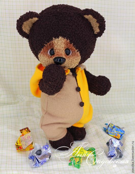 Игрушки животные, ручной работы. Ярмарка Мастеров - ручная работа. Купить Медвежонок Тишка. Handmade. Коричневый, мишка игрушка